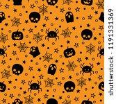seamless silhouette halloween... | Shutterstock .eps vector #1191331369