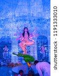 goddess durga idol at decorated ... | Shutterstock . vector #1191333010