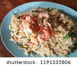shrimp fired rice on white... | Shutterstock . vector #1191335806