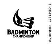 badminton logo design | Shutterstock .eps vector #1191348046