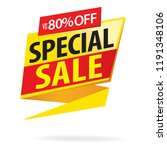 sale and special offer tag ... | Shutterstock .eps vector #1191348106