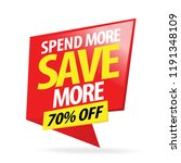 sale and special offer tag ... | Shutterstock .eps vector #1191348109