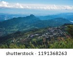 mountain view village in the...   Shutterstock . vector #1191368263