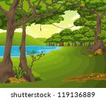 beautiful landscape background... | Shutterstock .eps vector #119136889