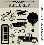 vintage objects collection.... | Shutterstock .eps vector #119137048