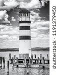 lighthouse in podersdorf am see ... | Shutterstock . vector #1191379450