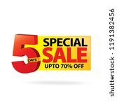 sale and special offer tag ... | Shutterstock .eps vector #1191382456