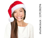 Christmas Headset Woman From...