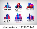 vector set of colorful real... | Shutterstock .eps vector #1191389446