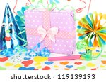 party decorations close up | Shutterstock . vector #119139193