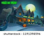 happy halloween background  ... | Shutterstock .eps vector #1191398596