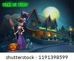 happy halloween background  ... | Shutterstock .eps vector #1191398599