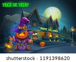 happy halloween background  ... | Shutterstock .eps vector #1191398620