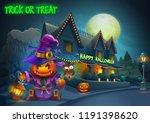 happy halloween background  ... | Shutterstock .eps vector #1191398620
