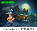 happy halloween background  ... | Shutterstock .eps vector #1191398623