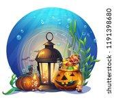 halloween cartoon stylized... | Shutterstock .eps vector #1191398680