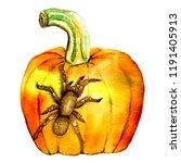 watercolor with ink... | Shutterstock . vector #1191405913