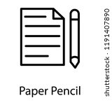 paper pencil used for the... | Shutterstock .eps vector #1191407890
