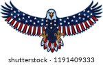 american eagle with usa flags | Shutterstock .eps vector #1191409333