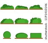bushes  a set of green bushes.... | Shutterstock .eps vector #1191410146