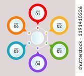 infographic template of circle... | Shutterstock .eps vector #1191410326