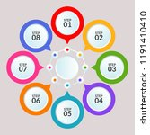 infographic template of circle... | Shutterstock .eps vector #1191410410