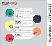tutorial option infographic... | Shutterstock .eps vector #1191413356