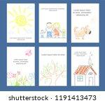 set of banner  background ... | Shutterstock .eps vector #1191413473