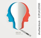 light bulb and human head icon... | Shutterstock .eps vector #1191413530