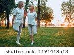 senior couple is doing sport...   Shutterstock . vector #1191418513