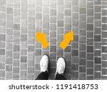 top view of selfie feet on...   Shutterstock . vector #1191418753