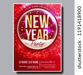 2019 party flyer poster vector. ... | Shutterstock .eps vector #1191418900