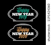 happy new year 2019 2020 vector ... | Shutterstock .eps vector #1191424360