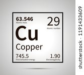 copper chemical element with... | Shutterstock .eps vector #1191433609