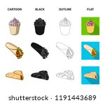food  refreshments  snacks and... | Shutterstock . vector #1191443689