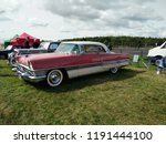 vintage car show outdoor at... | Shutterstock . vector #1191444100