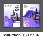 annual report 2019 2020  future ... | Shutterstock .eps vector #1191446239