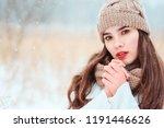 winter close up portrait of... | Shutterstock . vector #1191446626
