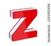 red glossy alphabet letter z on ... | Shutterstock . vector #1191451456