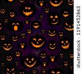 abstract seamless pumpkin... | Shutterstock .eps vector #1191452863