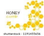 honey abstract background with... | Shutterstock .eps vector #1191455656