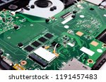 disassembled laptop on a white... | Shutterstock . vector #1191457483