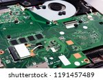 disassembled laptop on a white... | Shutterstock . vector #1191457489