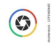 aperture   app icon | Shutterstock .eps vector #1191460660