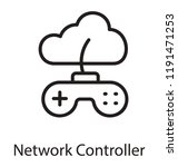 icon of controller connected... | Shutterstock .eps vector #1191471253
