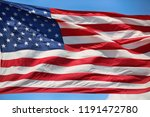 waving star and striped... | Shutterstock . vector #1191472780
