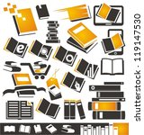 book icons set. collection of...   Shutterstock .eps vector #119147530