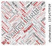vector conceptual women rights  ...   Shutterstock .eps vector #1191475939