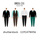 men formal dress code vector... | Shutterstock .eps vector #1191478456
