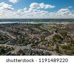 vertical panoramic aerial view...